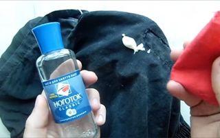 Как очистить свежую и старую монтажную пену с одежды?