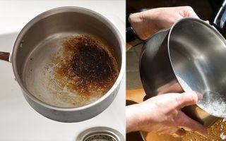 Эти способы помогут очистить кастрюлю от пригоревшей еды