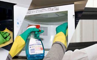 Как отмыть микроволновку быстро и без вредных средств