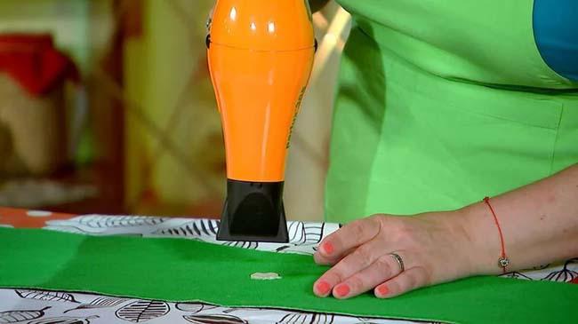 фен для удаления пятен от жвачки с одежды