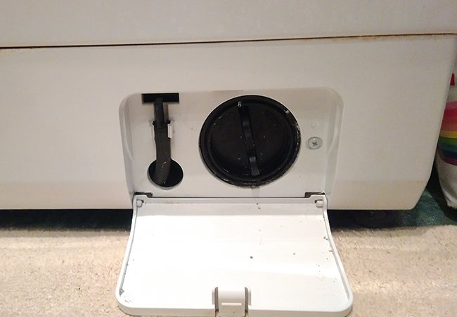 расположение сливного фильтра в стиральной машине