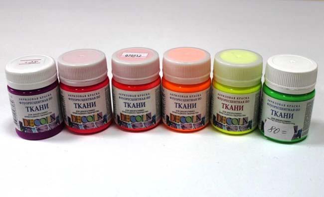 разноцветные акриловые краски
