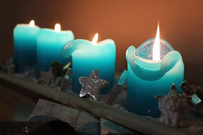 цветные парафиновые свечи