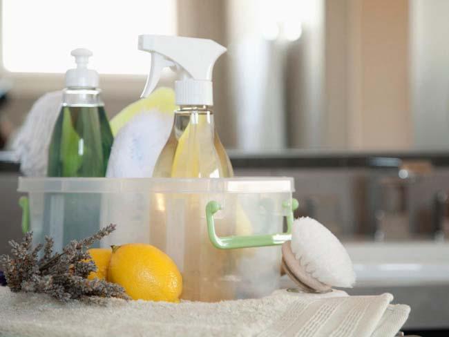 набор натуральных чистящих веществ для домашнего использования