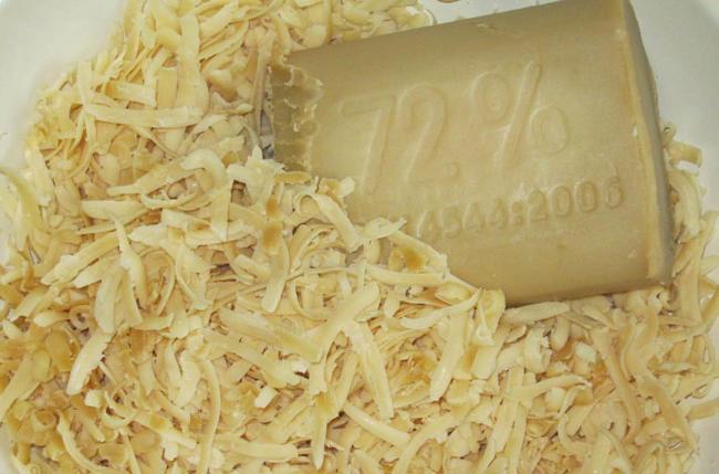 хозяйственное мыло нарезанное стружкой
