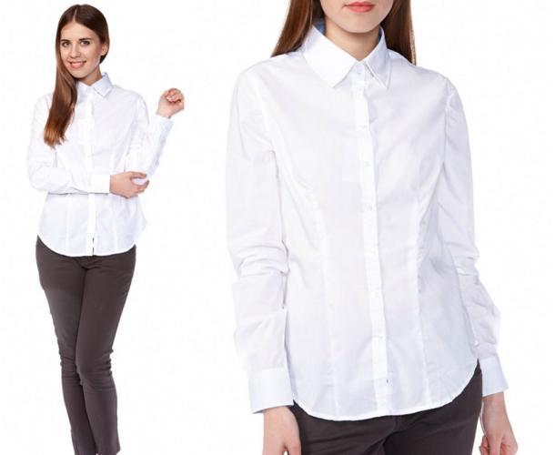 девушка в белоснежной блузке