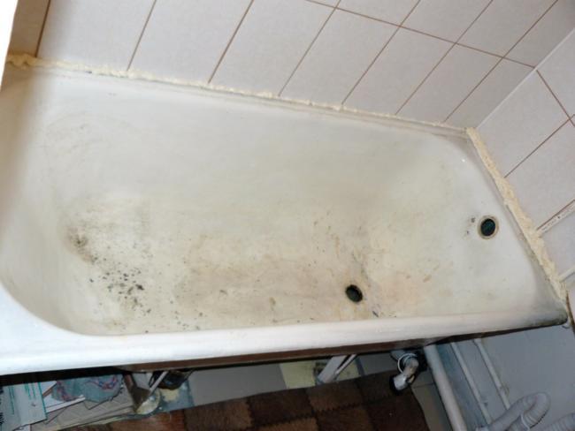 ванна после обработки чистящими средствами