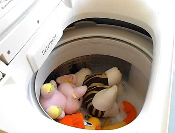 стираем мягкие игрушки в стиральной машине