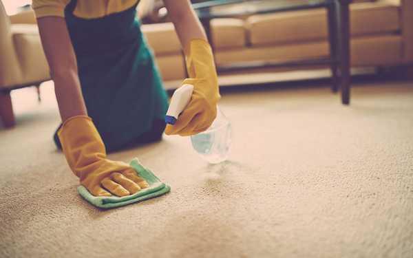 чтобы очистить пятно его необходимо намочить