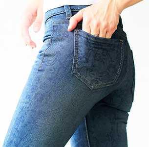 джинсы в утяжку