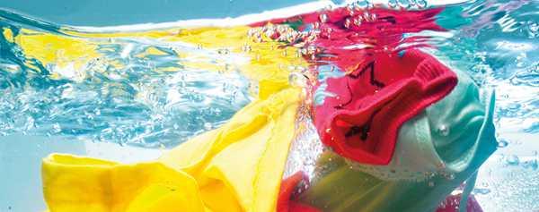 стирка разноцветных вещей