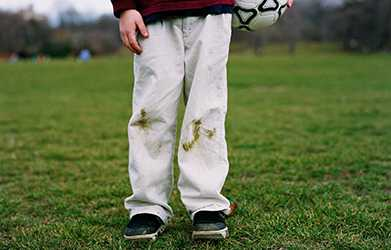 пятно от травы на штанах