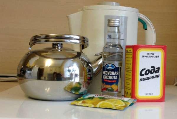 чистим чайники от накипи