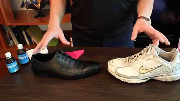 для устранения запаха обуви - хлоргикседин