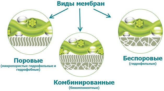 различные типы мембран