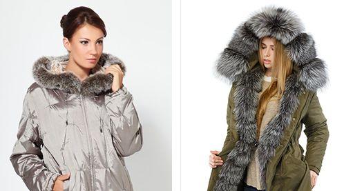 вставки из меха на зимней куртке
